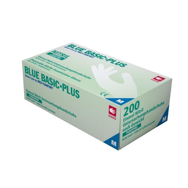 Nitrilhandschuhe blau 200 Stück, puderfrei, small S
